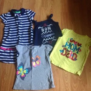 Other - Girls 5 top lot bundle 4 pieces